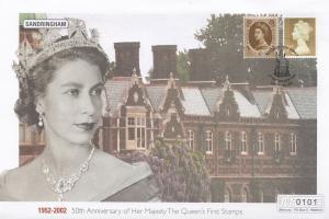 Sandringham Queen Elizabeth II Golden Jubilee Rare Stamp 50th Anniversary FDC
