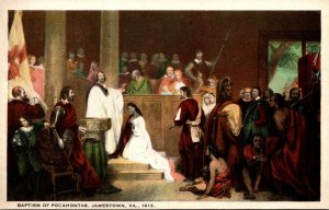 Virginia Jamestown Baptism Of Pocahontas 1613 Curteich
