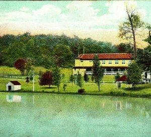 Casinò Barca Casa Lago Clyffeside Park Ashland Ky Kentucky 1910s Cartolina