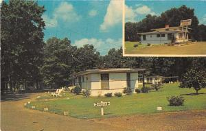 Penola Virginia view of Bowling Green Lodges and Restaurant vintage pc Y15691