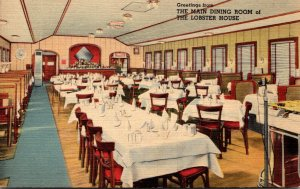 Massachusetts Charlestown The Lobster House Main Dining Room 1947