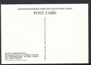 Northamptonshire Postcard - Knuston Hall, Residential College For Adults  H463
