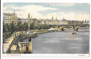 The Embankment PPC, 1906 PMK to Hearn, Richford Rd, Westgate