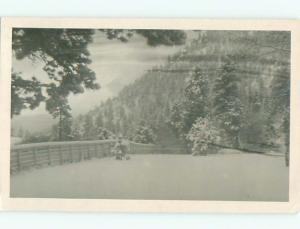 rppc Pre-1950 FENCE IN SNOWY LANDSCAPE AC8077