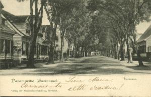 suriname, PARAMARIBO, Heerenstraat (1899) Moravian Mission Herrnhut