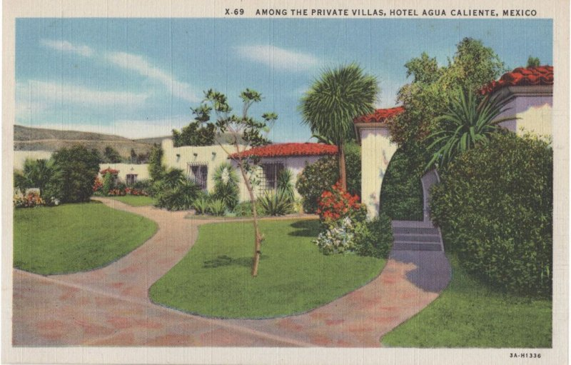 Among The Private Villas Hotel Agua Caliente Mexico Mint Postcard