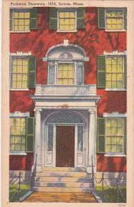 Massachusetts Salem Pickman Doorway 1818