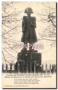 Hen the Echarmaux Old Postcard Statue of Napoleon 1st raised by dial Sabotier
