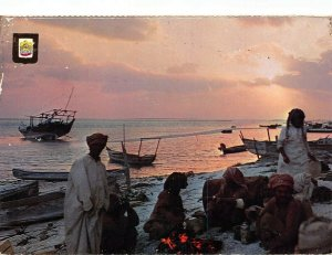 United Arab Emirates Fishermen at rest U.A.E. Postcard