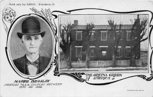 F54/ Aberdeen Ohio Postcard 2View c1910 Beasley Gretna Green Home