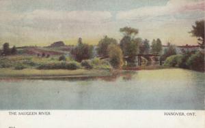 HANOVER , Ontario , Canada , 1906 ; The Saugeen River