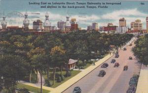 Florida Tampa Looking East On Lafayette Street 1958