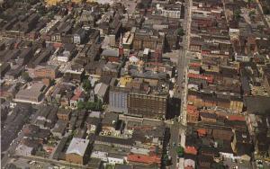 YORK, Pennsylvania, 1940-1960's; Aerial View of Downtown Along Market Street