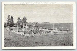 Algoma Wisconsin~Frank Chapek Cabins~Guests Play Miniature Golf~1940s B&W Linen