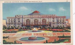 California San Francisco Exposition Auditorium Civic Center