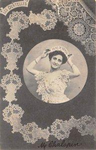 Lace Embroidery Post Card Les Dentelles Point de Venise Postal Used, Date Unk...