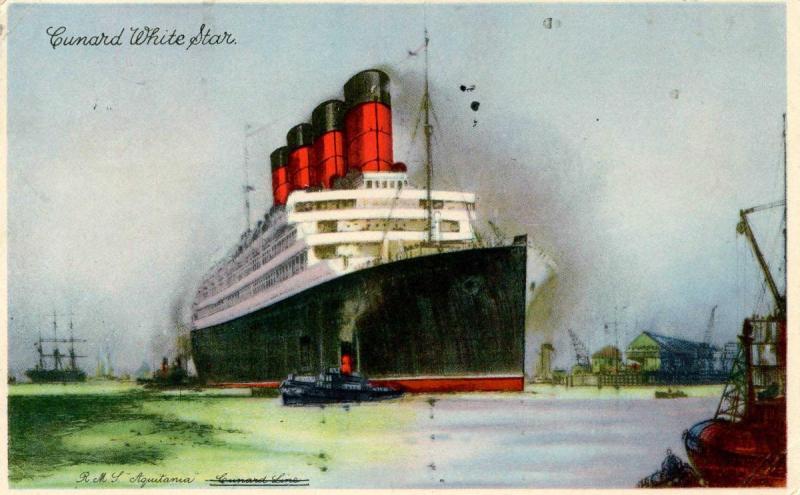 Cunard White Star Line - RMS Aquitania  *PAQUEBOT*