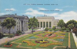 City Hall Building, Hinds County Court House, City Hall Floral Gardens, Jacks...