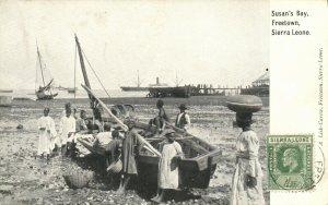 PC CPA SIERRA LEONE, FREETOWN, SUSAN'S BAY, Vintage Postcard (b24791)
