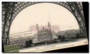 Paris Trocadero Old Postcard Eiffel Tower