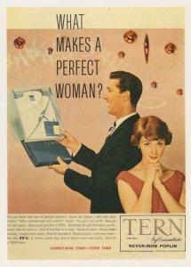 Mens 1950s Tern Shirt Christmas Present Football Advertising Postcard