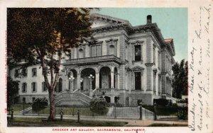 Crocker Art Gallery, Sacramento, CA, early postcard, used in 1906, R.P.O. Cancel