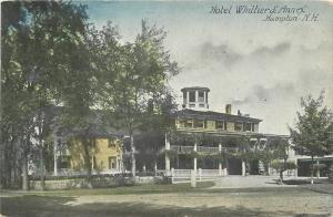 Annex C-1910 Hampton New Hampshire Hotel Whittier roadside postcard 2946