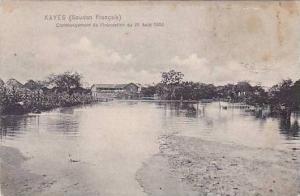 Africa Sudan Commencement de l'inondation du 22 Aout 1906