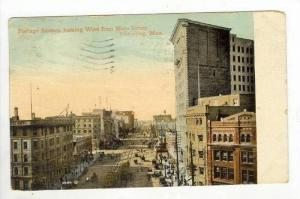 Portage Avenue, West from main street, Winnipeg, Man., Canada, PU-1912