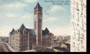 Minnesota Minneapolis Court House & City Hall 1906