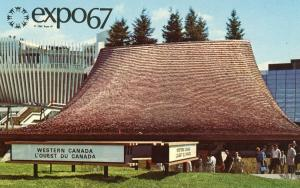 Canada - Quebec, Montreal. Expo 67. Pavilion of the Western Provinces