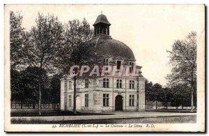 Richelieu Old Postcard The castle's dome
