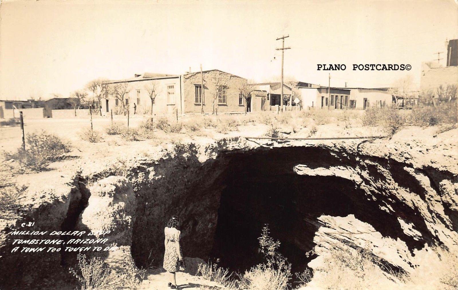 Tombstone Arizona Million Dollar Stop Rppc Real Photo