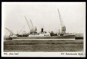 Royal Dutch Lloyd, M.S. Kota Inten (1940s) RPPC