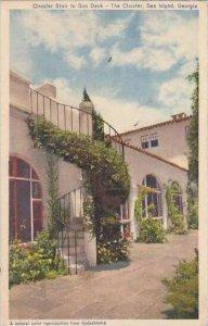 Georgia Sea Island Cloister Hotel Circular Stair To Sun Deck 1951