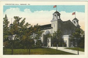 Convention Hall - Hershey Pennsylvania Vintage Postcard Early 1920