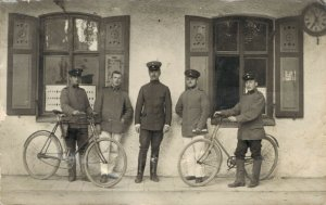 Military Group with bicycles RPPC 03.70