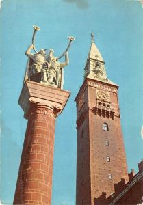 Copenhagen Denmark, Danmark Lur Blowers and Town Hall Tower Copenhagen Lur Bl...