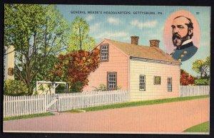 4120) Pennsylvania GETTYSBURG General Meade's Headquarters - LINEN
