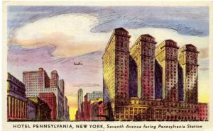 Hotel Pennsylvania on Seventh Avenue facing Penn Station - New York City