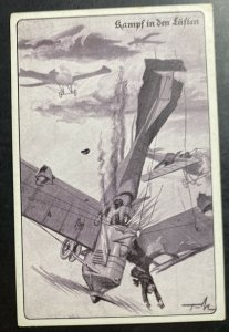 Mint Germany Picture Postcard PPC Fight In The Sky WWI Aviation