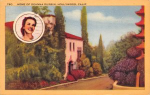Hollywood CA Home of Winnipeg MB Born Actress Deanna Durbin~Photo Inset~1946