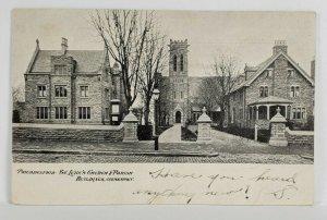 Germantown Pa St Luke's Church & Parish Philadelphia 1906 to Chester Postcard S6