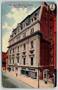 Balto Maryland~New? Masonic Temple*~Grand Baltimore Event Center 1912 Postcard