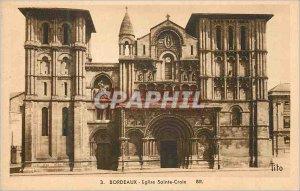 Postcard 3 Old holy church burgundy cross