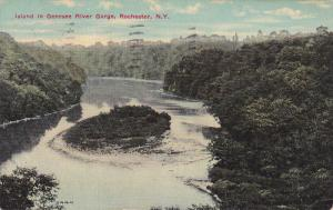 Rochester , New York  ; Island in Genesee River Gorge , PU-1913