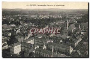Postcard Old Troyes Panorama East View from the cathedral