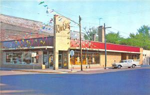 Hayward WI Rivkin's Super-Fair Shopping Center Old Car Postcard