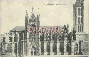 Old Postcard Limoges La Cathedrale