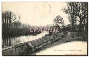 Vitry le Francois Old Postcard A view of the Marne